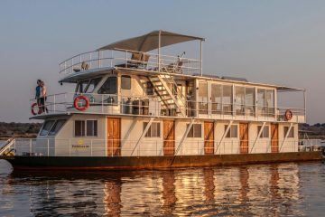 2022 Chobe River Safari – Three Nights on a Private Houseboat, Three nights at a Lodge Adjacent to the Park Plus Arrival Night in Johannesburg
